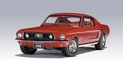 FORD MUSTANG GT 390 1968 (RED) (72801)